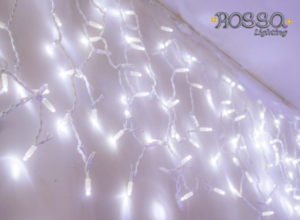 White LED Icicle Lights 3mtr x 1mtr -144 LEDS