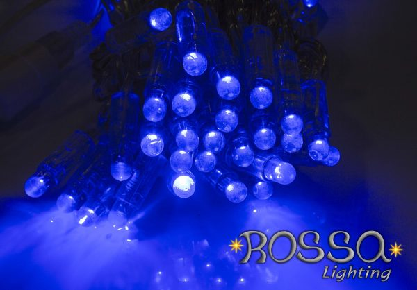 string outdoor lights blue led
