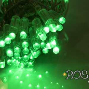 green string lights leds clear cable