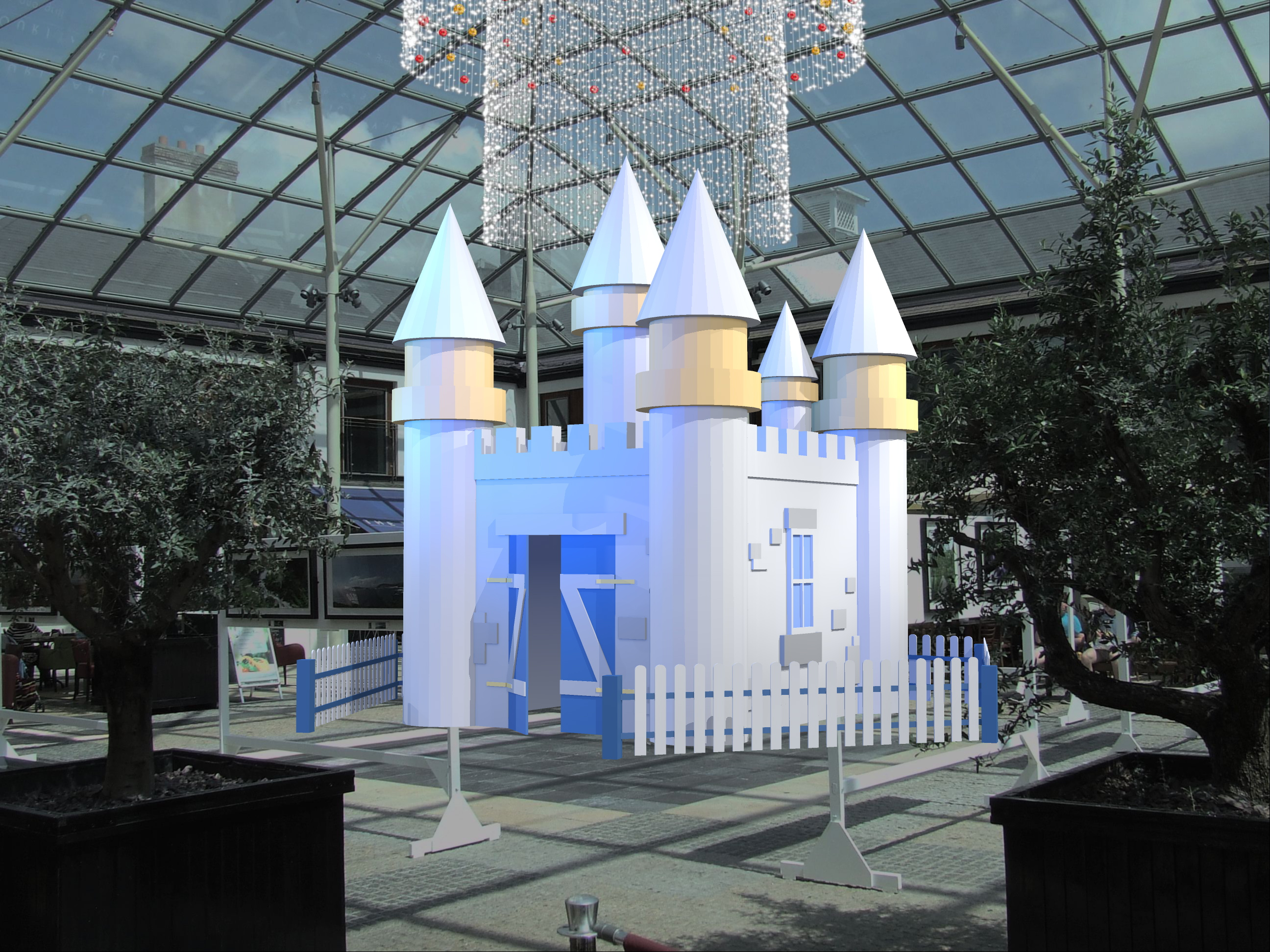 Santa's Castle Christmas Display RL-CS-008