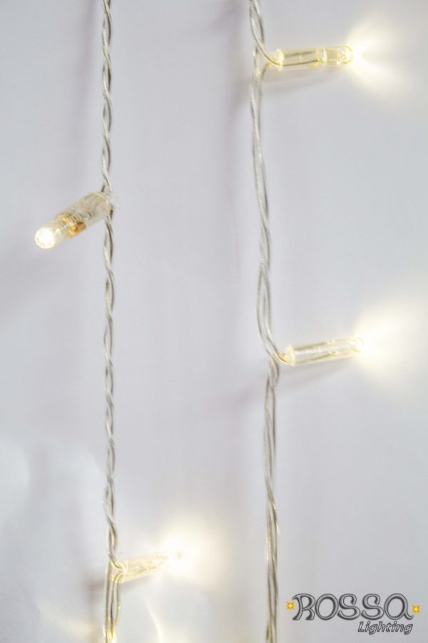 string led lights white clear cable