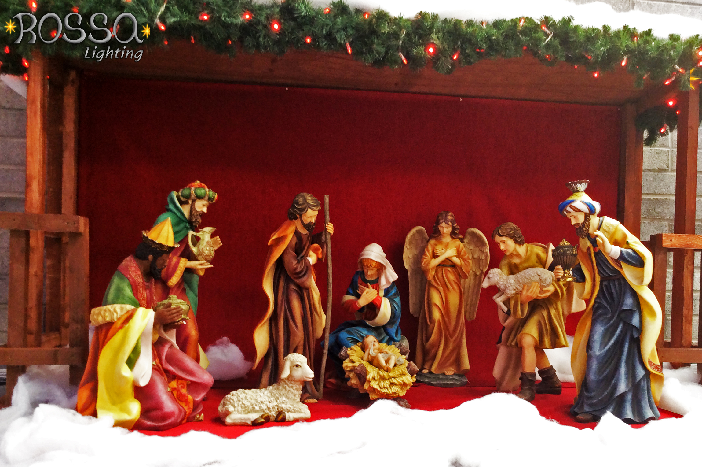 Christmas Crib 36 Quot Includes 10 Nativity Figures