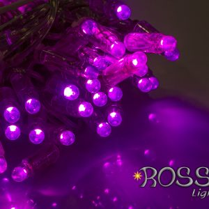 purple string lights leds clear cable