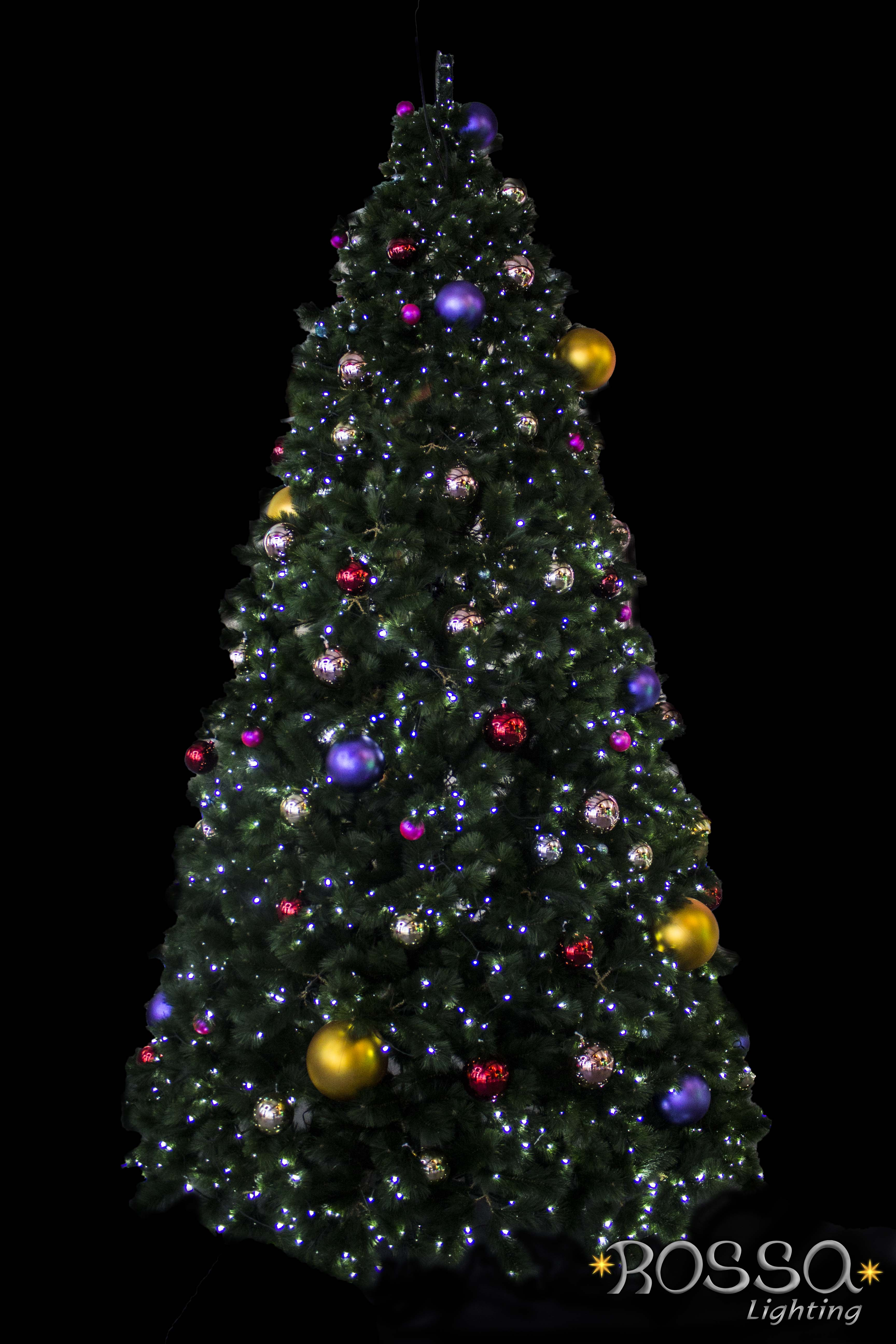 Christmas Tree Natural Range 4mtr With 3000 Multi Leds